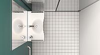 Baño para minusválidos serie Standard